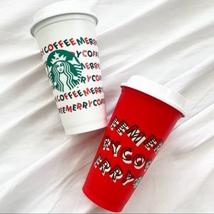 STARBUCKS holiday Christmas reusable cups